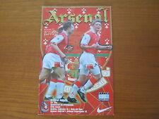 Arsenal v Crystal Palace - FA Cup 5th Round - Season 1997 - 98 (VGC).