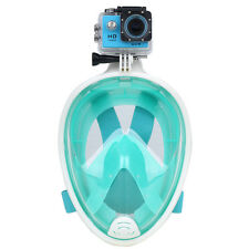 Unisex Full Face Diving Swimming Snorkel Mask Breathing Scuba Snorkeling GoPro