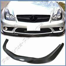 Fit 06-10 BENZ W219 CLS55 CLS63 Sedan Carbon Fiber GH Type Front AMG Bumper Lip