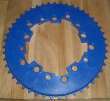Vintage NOS Old School BMX Addicks 47th Blue Chainring
