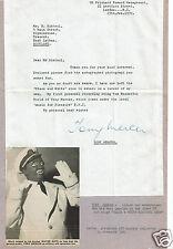 Tony Mercer Singer B/W Minstrels Good Old Days Hand Signed Letter- 12 x 9