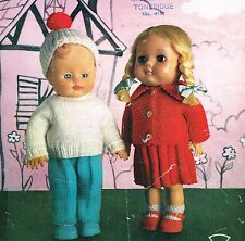 """Dolls Clothes knitting pattern for 10""""  to 12"""" doll. (V Doll 161)"""
