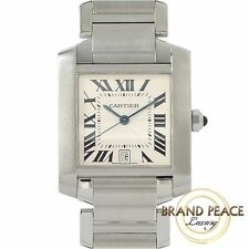 Cartier Francaise LM mens SS automatic Free Shipping