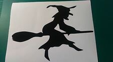 WITCH, HALLOWEEN Stickers.For cars walls windows ect,BOAT LORRY CARAVAN,MOTOHOME