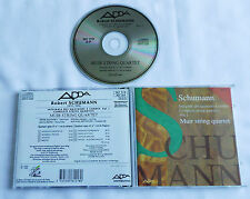 SCHUMANN Complete string quartets Vol.1 MUIR STRING QUARTET FRENCH CD ADDA(1990)