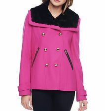 NWT ~ Juicy Couture ~ WOOL~ WOMEN COAT Jacket Outwear, Pink, Large $348