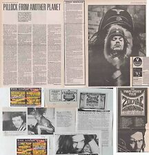 ZODIAC MINDWARP : CUTTINGS COLLECTION -adverts interview-