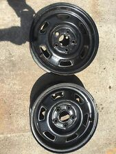 2 Steel Wheels For Chev. Citation,Buick Skylark,Olds. Omega, Pontiac Phionex 13""