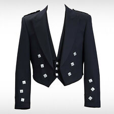 Prince Charlie Jacket With Waistcoat and Vest  {100 % pure wool)