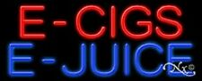"NEW ""E - CIGS E-JUICE"" 32x13 REAL NEON SIGN w/CUSTOM OPTIONS 11390"