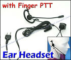 E14S Ear Headset with Finger PTT for ICOM IC-V8 VX-200