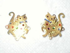 KITTY CAT' BUTTON COVER SET OF 2  NUMBER 5084/4