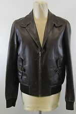 Mens Fendi Brown With Stitch Detail Italian Made Part Leather Jacket Size 50 EU