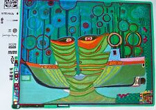 Friedensreich Hundertwasser  COLUMBUS RAINY DAY IN INDIA signed Regentag 71