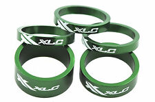 XLC AHEAD 5 PIECE HEADSET SPACER SET, 3x 5mm,1x10mm,1x 15mm ALLOY GREEN