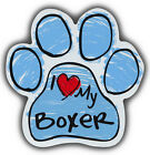 Scribble Paw Dog Magnets: I LOVE MY BOXER   Cars, Trucks, Refrigerators