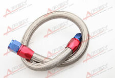 "24"" 6AN SS Braided Racing Performance Oil Fuel Coolant Line Hose Assembly"