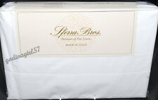 Sferra 500tc  * KING SHEET SET * White, Percale, Egyptian Cotton, Italy NEW