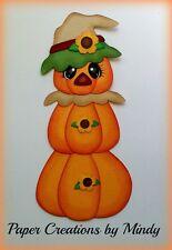 Craftecafe Mindy Halloween Scarecrow Pumpkin premade paper piecing scrapbook