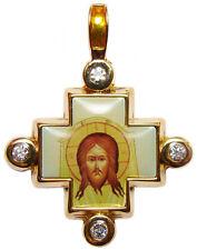 Pendentif Croix Jésus, Croix Orthodoxe, bijou Chrétien Pendentif Croix Jésus