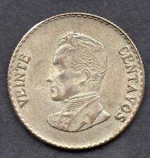 COLOMBIA COIN 20 CENTAVOS 1953 MEDAL ROTAT SCARCE VF+