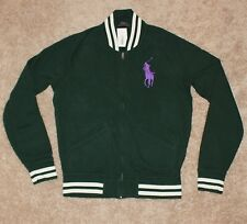 $145 Polo RALPH LAUREN Cotton Jacket XL X-LARGE Big Pony Track GREEN Brand New