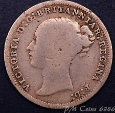 1873 Queen Victoria Young Head Silver 925 Threepence 3d coin [lot6386]