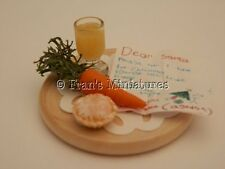 Dolls house food:Letter to Santa with ruldolph & santa treats -By Fran