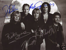 DEF LEPPARD AUTOGRAPH SIGNED PP PHOTO POSTER