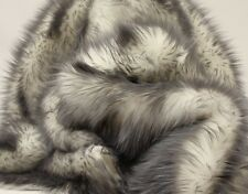 """Faux Fur fake grey Frosted tips fabric 60"""" Wide sold by the yard upholstery"""