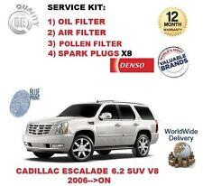 CADILLAC ESCALADE 6.2 SUV V8 POLLEN ÖL LUFT FILTER + ZÜNDKERZEN WARTUNGSSATZ