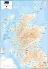 Relief Map 2 - Scotland - Standard Matt Paper - Unlaminated