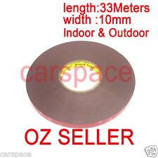 3M Double Face Sided Tape 10mm 33 Meters for Indoor Outdoor sign LED lights OZ