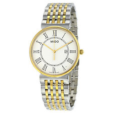 Mido Dorada White Dial Two-tone Stainless Steel Ladies Watch M0096102201300