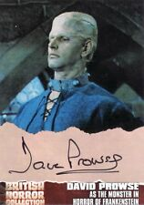British Horror Collection Dave Prowse as Frankenstein's Monster DP2 Auto Card