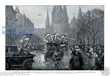 Wahl Reichspräsident XL Kunstdruck 1925 Frost Tauenzienstraße Berlin Wahlkampf -