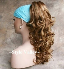 Ginger Mix Ponytail Extension Hair Piece Long Curly Layered Claw Clip on /in HOT