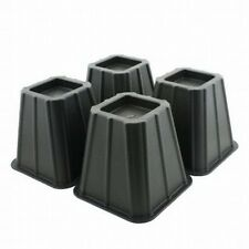 Set of 4 Bed Risers Raise Furniture Create Underbed Storage, New, Free Shipping