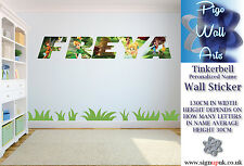 Kids Bedroom Wall Sticker Tinkerbell with any name you like.