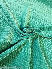 B2 Emerald Green Crinkle Texture Jersey Stretch Lycra Dressmaking Dress Fabric