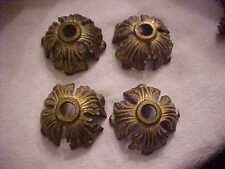 4 New Rough Cast Brass Lamp Light Fixture Parts #1