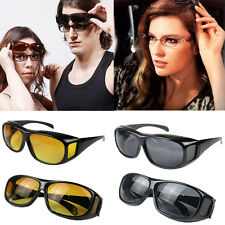 Unisex Men Women HD Night Vision Over Wrap Around Driving Glasses Sunglasses New