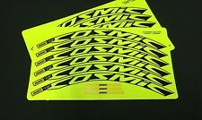 Mavic Cosmic Elite 30mm+ Wheel Decals/Stickers Set 12 decals FLUORESCENT YELLOW