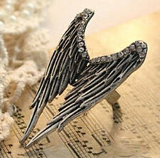FD362 Vintage Retro Punk Gothic Wings Princess Queen Ring Women Girl Ring ~1pc~