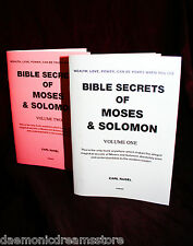 BIBLE SECRETS OF MOSES & SOLOMON  Finbarr Occult White Magick. Carl Nagel. 2 Vol