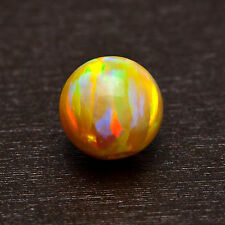 Fabulous Fiery Color Flashes ~ Electrified Yellow Fire OPAL 6mm Round BEAD