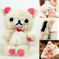 3D Teddy Bear Plush Toy Doll Skin Cover Case For Various Samsung Mobile Phones