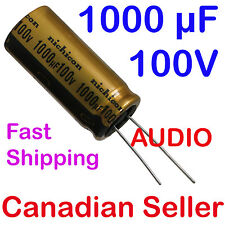 2pcs 1000uF 100V 18x40mm Nichicon FW series Audio For Amplifier Radio Hi-Fi TV