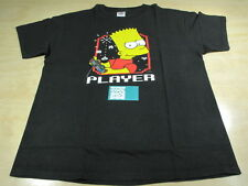 VINTAGE THE SIMPSONS CARTOON BART PLAYER TEE SHIRT BLACK LARGE L