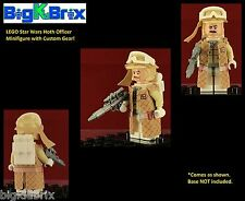 HOTH REBEL OFFICER Star Wars LEGO Minifigure with our Custom Parts included!